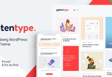 Gutentype v1.9.2 - 100% Gutenberg WordPress Theme