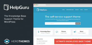 HelpGuru v1.7.3 - A Self-Service Knowledge Base Theme
