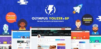 Olympus v2.7 - Powerful BuddyPress Theme for Social Networking
