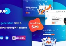 Onum v1.0.2 - SEO & Marketing Elementor WordPress Theme