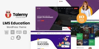 Talemy v1.1.10 - LMS Education WordPress Theme