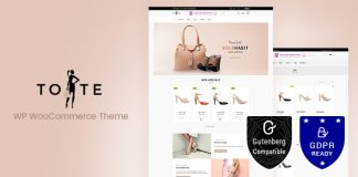 Tote v1.9 - WordPress WooCommerce Theme
