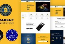 Tradent v1.8 - Bitcoin, Cryptocurrency Theme