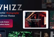 Whizz v2.1.0 - Photography WordPress for Photography