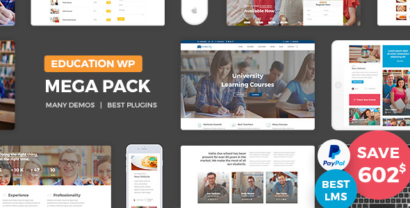 Education Pack v1.9 - Education Learning Theme WP
