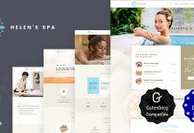 Helen's Spa v2.0 - Beauty Spa, Health Spa & Wellness Theme