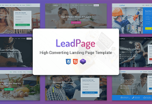 LeadPage v1.0 - Multipurpose Marketing HTML Landing Page Template