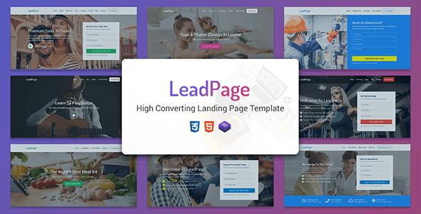 LeadPage v1.0 - Multipurpose Marketing HTML Landing Page Template