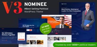 Nominee v3.2 - Political WordPress Theme for Candidate/Political Leader