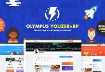 Olympus v2.8 - Powerful BuddyPress Theme for Social Networking
