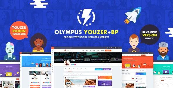 Olympus v2.8 - Powerful BuddyPress Theme for Social Networking