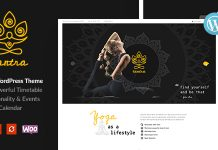 Tantra v1.0.4 | A Yoga Studio and Fitness Club WordPress Theme