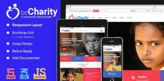 beCharity v1.0 - HTML5 Charity Template