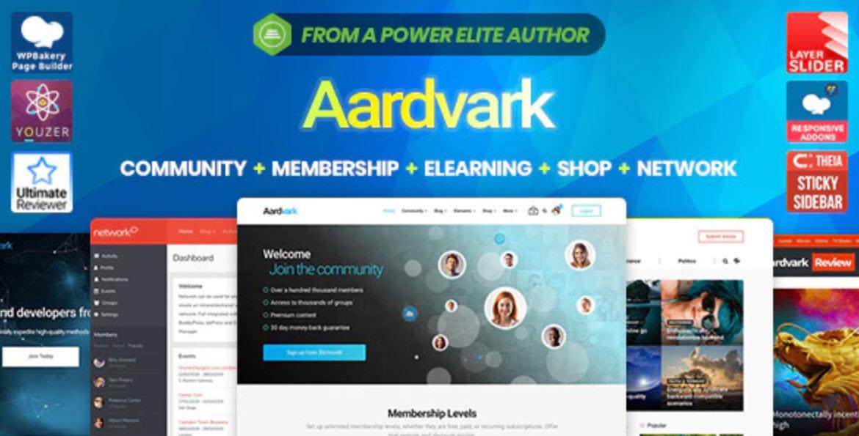 Aardvark v4.19 - BuddyPress, Membership & Community Theme
