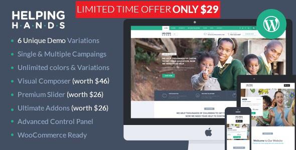HelpingHands v2.7.4 | Charity WordPress Theme