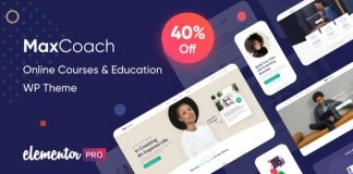 MaxCoach v1.2.3 - Online Courses & Education WP Theme