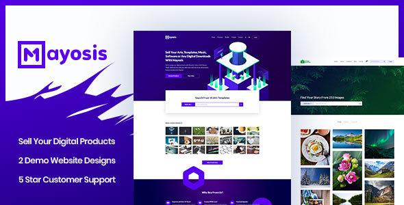 Mayosis v2.7.3 - Digital Marketplace WordPress Theme