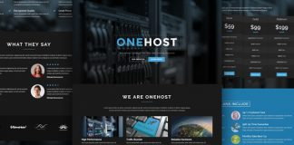 Onehost is an Elegant WordPress Premium Theme, Onehost is suitable for Hosting websites aswell as Company, Agency or Organization