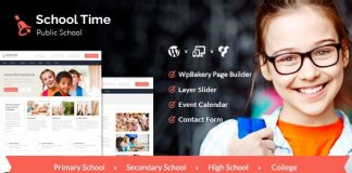 School Time v2.5.0 - Modern Education WordPress Theme