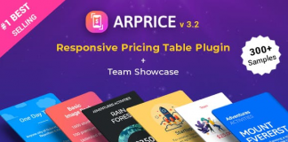 ARPrice v3.5 - WordPress Pricing Table Plugin Nulled