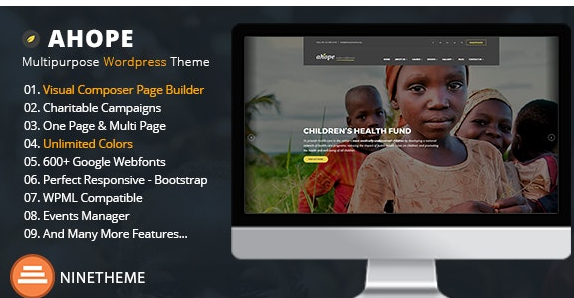 Ahope - Nonprofit WordPress Theme v2.3.0