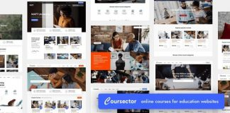 Coursector v1.3.1 | LMS Education WordPress Nulled