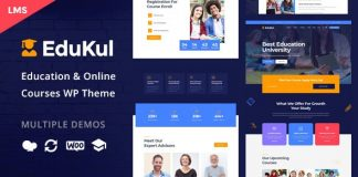 Edukul v1.5 - Online Courses WordPress Theme