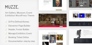 Muzze v1.2.3 - Museum Art Gallery Exhibition WordPress Theme