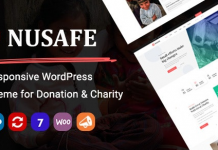 Nusafe v1.0 | Responsive WordPress Theme for Donation & Charity