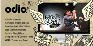 Odio v4.0 - Music WP Theme For Bands, Clubs, and Musicians 4.0