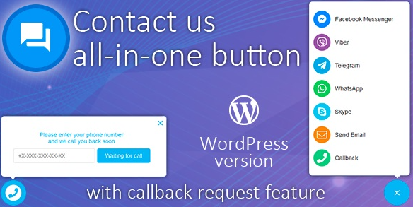 All in One Support Button + Callback Request. WhatsApp, Messenger, Telegram, LiveChats v1.8.6 Nulled