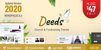 Deeds v8.0 - Best Responsive Nonprofit Church WordPress Theme