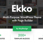 Ekko v1.7 - Multi-Purpose WordPress Theme with Page Builder 1.7