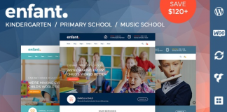 Enfant v3.1.7 - School and Kindergarten WordPress Theme