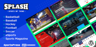 Splash v4.2 - Sport Club WordPress Theme for Basketball, Football, Hockey