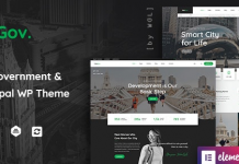 TheGov v1.0.9 - Municipal and Government WordPress Theme Nulled