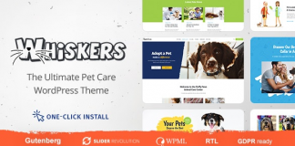 Whiskers v1.0.4 - Pets Store | Vet Clinic | Animal Adoption