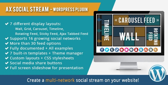 AX Social Stream v3.7.14 - WordPress Plugin
