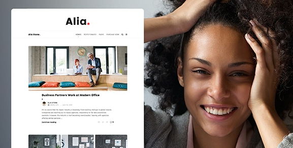 Alia v1.43 - Minimal Personal Blog WordPress Theme
