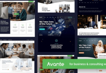 Avante v1.6 | Business Consulting WordPress Theme 1.6