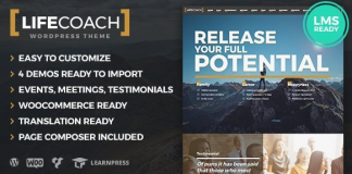 Life Coach WordPress Theme v2.2.6