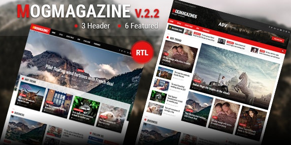Mogtemplates – MogMagazine Template For Blogger v2.2