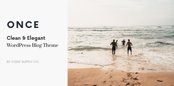 Once v1.0.8 - Clean & Elegant WordPress Blog Theme