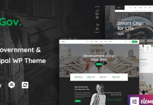 TheGov v1.0.12 - Municipal and Government WordPress Theme Nulled