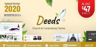 Deeds v7.6 - Best Responsive Nonprofit Church WordPress Theme