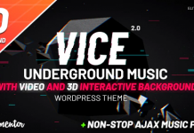 Vice: Music Band, Dj and Radio WordPress Theme v2.0.1