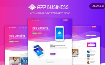 App Business Landing Page Responsive Blogger Template v2.0