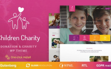 Children Charity v1.1.1 - Nonprofit & NGO WordPress Theme with Donations