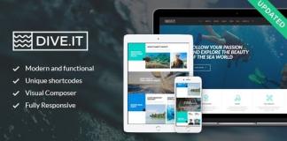 DiveIt v1.3.2 - Scuba Diving School, Sea Adventure & Travel WordPress Theme