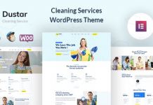 Dustar v1.0.1 - Cleaning Services WordPress Theme